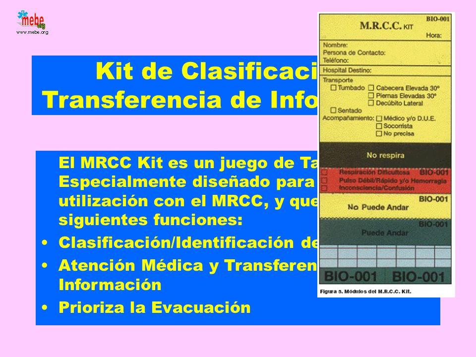 Kit de Clasificación y Transferencia de Información El MRCC Kit es un juego de Tarjetas Especialmente diseñado para su utilización con el MRCC, y que