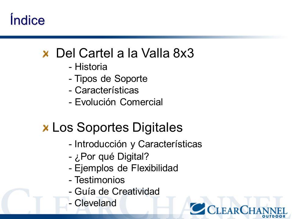Índice Del Cartel a la Valla 8x3 - Historia - Tipos de Soporte - Características - Evolución Comercial Los Soportes Digitales - Introducción y Caracte