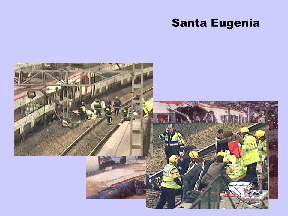Santa Eugenia 7:50 mICUs VIR UAD SAMUR 2+1 2 - SUMMA 4+1 - - IC organization Dead 17 Total victims 52 SUMMA/SAMUR 4 critical SAMUR 10 severe SAMUR 6 s