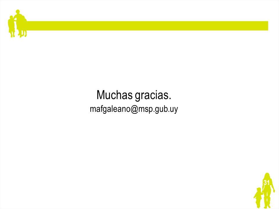 31 Muchas gracias. mafgaleano@msp.gub.uy