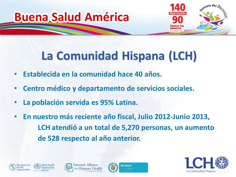 Buena Salud América La Comunidad Hispana (LCH) Establecida en la comunidad hace 40 años.