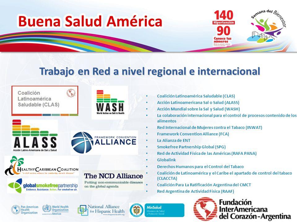 Buena Salud América Inserte su logo Coalición Latinoamérica Saludable (CLAS) Acción Latinoamericana Sal o Salud (ALASS) Acción Mundial sobre la Sal y
