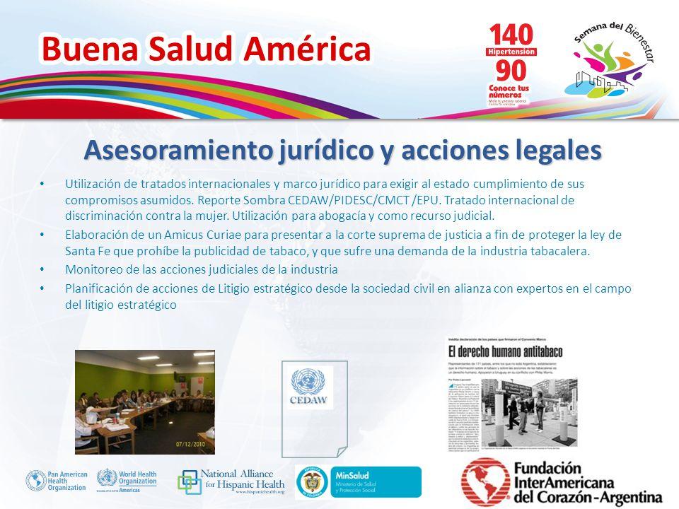 Buena Salud América Inserte su logo Asesoramiento jurídico y acciones legales Utilización de tratados internacionales y marco jurídico para exigir al