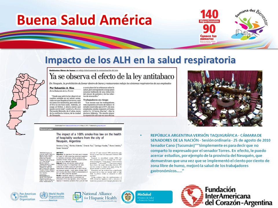 Buena Salud América Inserte su logo Contempla las principales medidas para el control de tabaco: Ambientes 100% libre de humo Advertencias sanitarias Restricción amplia de la PPP de los productos de tabaco Avances en las Políticas para el control del tabaco Sanción de la ley nacional (Junio del 2011)