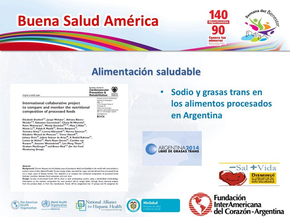 Buena Salud América Inserte su logo Sodio y grasas trans en los alimentos procesados en Argentina Alimentación saludable