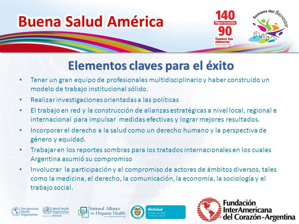 Buena Salud América Inserte su logo Tener un gran equipo de profesionales multidisciplinario y haber construido un modelo de trabajo institucional sól