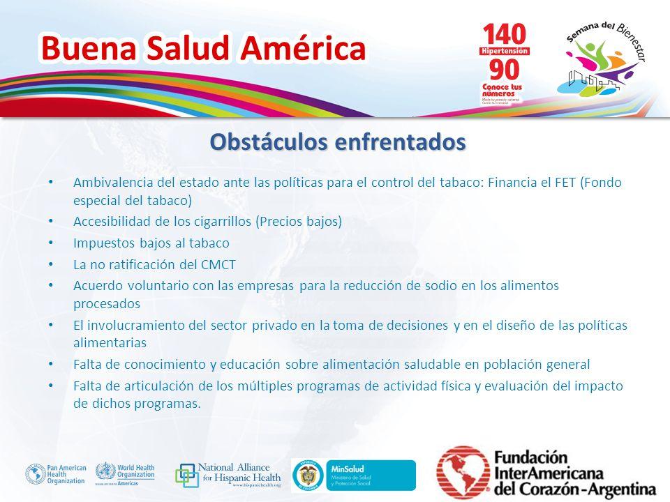 Buena Salud América Inserte su logo Ambivalencia del estado ante las políticas para el control del tabaco: Financia el FET (Fondo especial del tabaco)