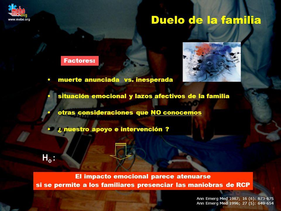 www.mebe.org muerte anunciada vs. inesperada situación emocional y lazos afectivos de la familia otras consideraciones que NO conocemos ¿ nuestro apoy