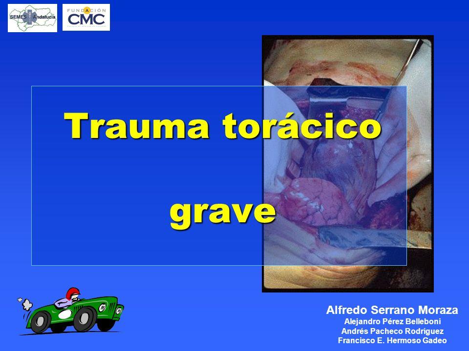 www.mebe.org Taponamiento cardíaco l Manejo ABC, O 2 a alto flujo Líquidos IV Pericardiocentesis l Prehospitalaria: PCR en DEM Transporte en SVA a Centro de Trauma