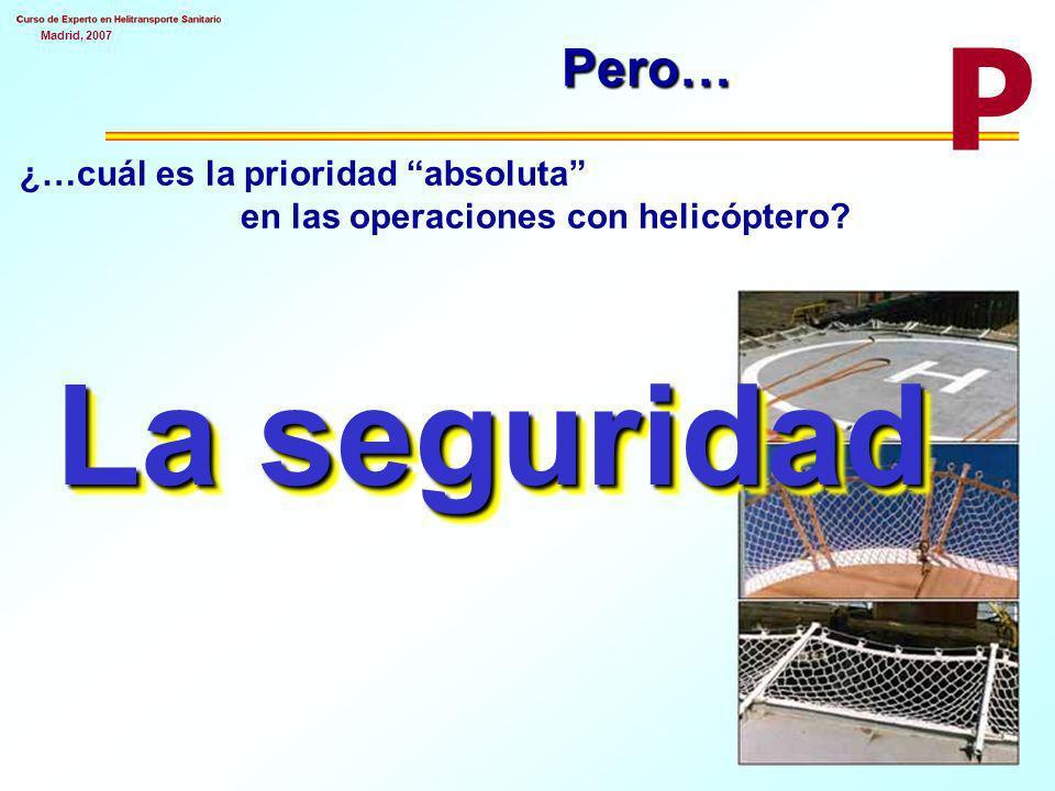 Madrid, 2007Pero… ¿…cuál es la prioridad absoluta en las operaciones con helicóptero.