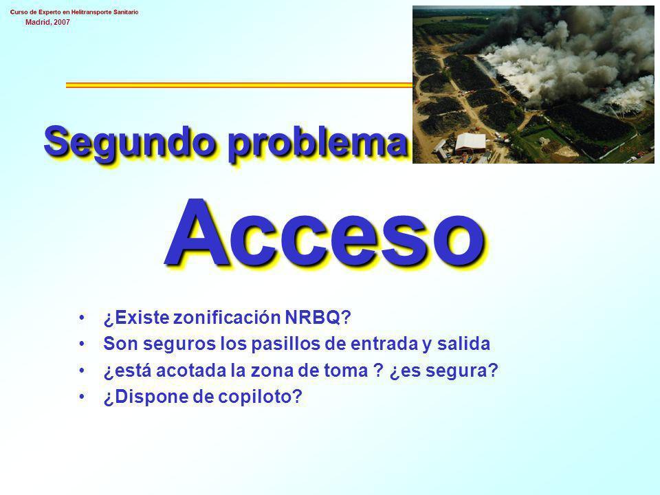 Madrid, 2007 Segundo problema Acceso ¿Existe zonificación NRBQ.