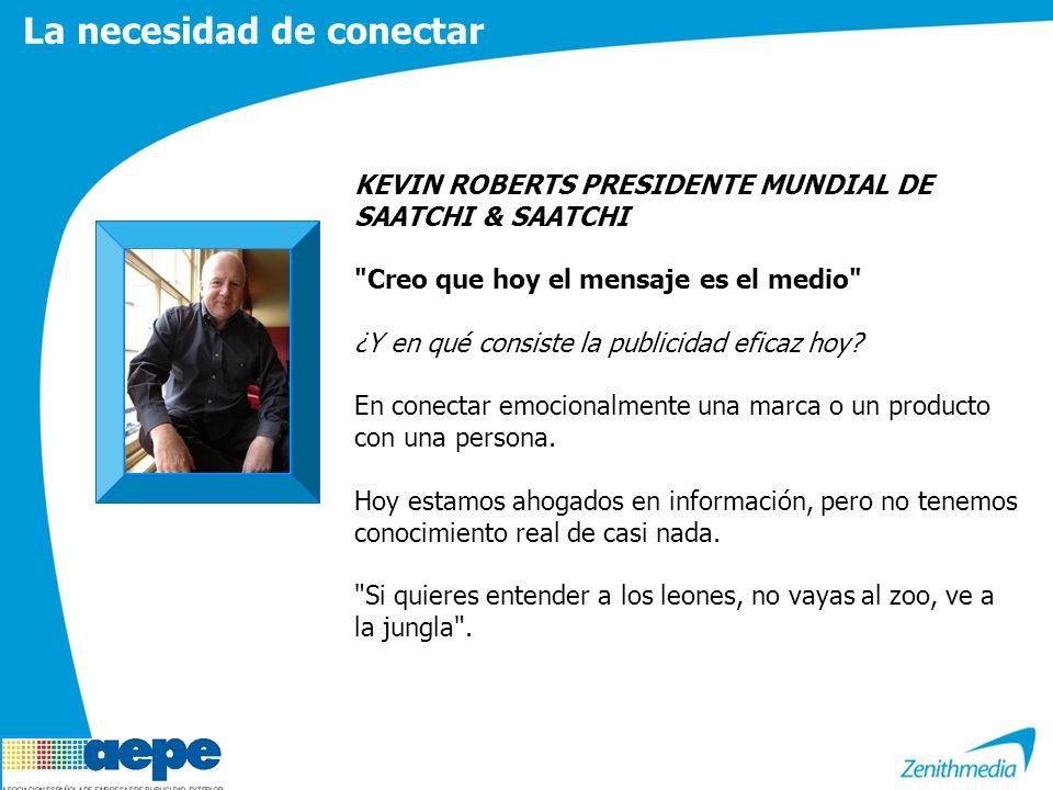 La necesidad de conectar KEVIN ROBERTS PRESIDENTE MUNDIAL DE SAATCHI & SAATCHI