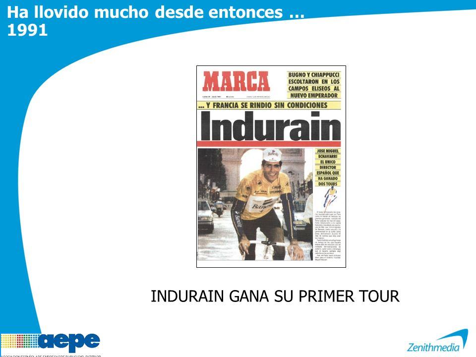 INDURAIN GANA SU PRIMER TOUR Ha llovido mucho desde entonces … 1991