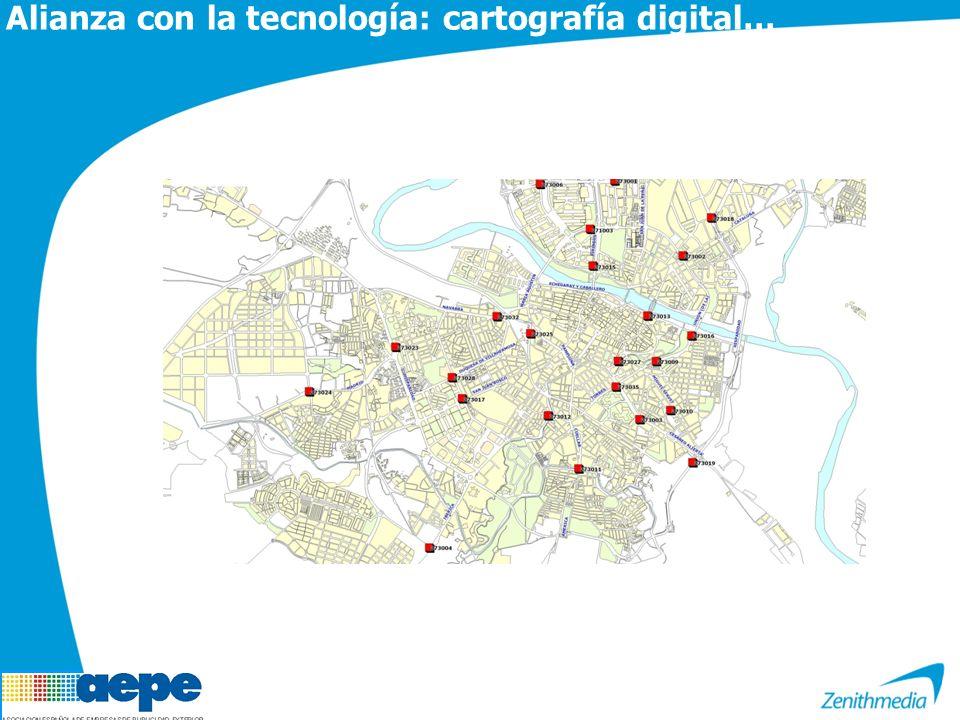 Alianza con la tecnología: cartografía digital…
