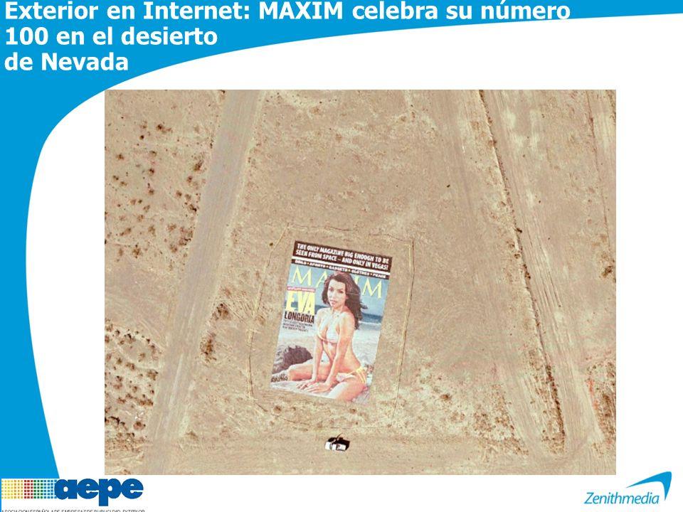 Exterior en Internet: MAXIM celebra su número 100 en el desierto de Nevada
