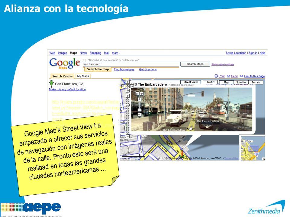 Google Maps Street View ha empezado a ofrecer sus servicios de navegación con imágenes reales de la calle.