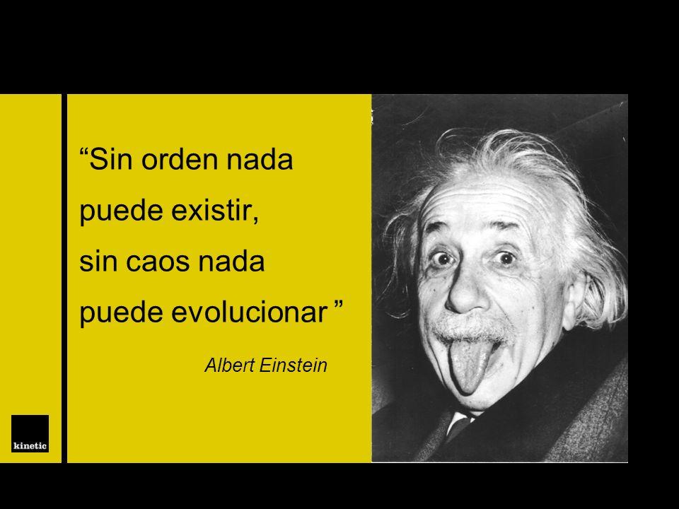 Sin orden nada puede existir, sin caos nada puede evolucionar Albert Einstein