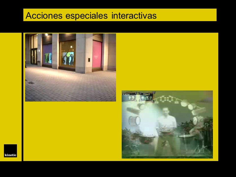 Acciones especiales interactivas