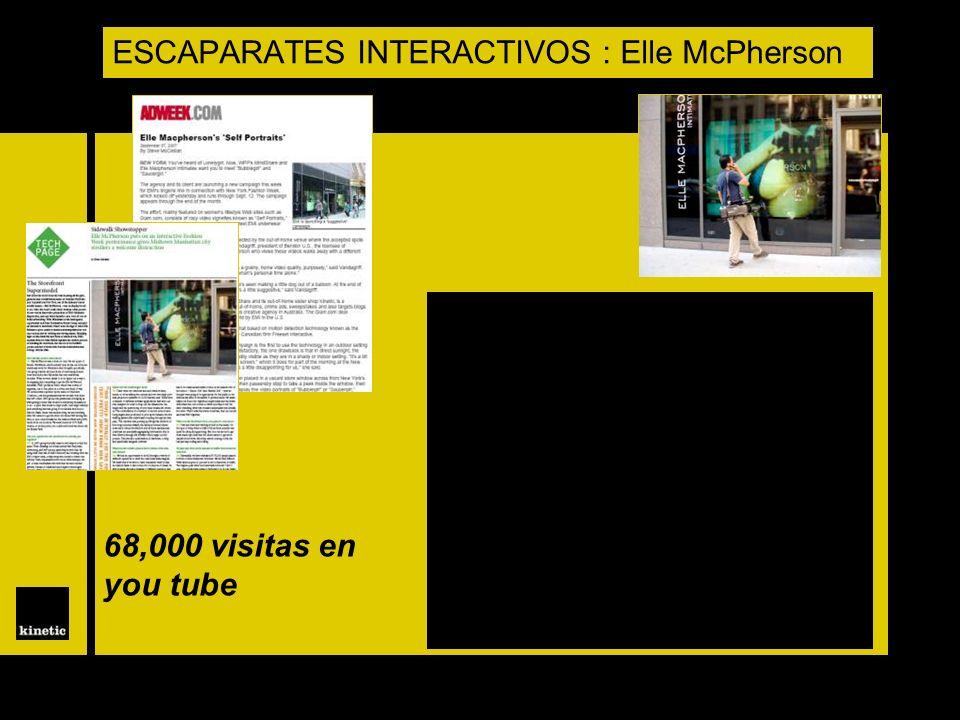 ESCAPARATES INTERACTIVOS : Elle McPherson 68,000 visitas en you tube