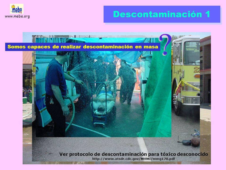 www.mebe.org Triage vs. transporte A menudo, las prioridades de tratamiento in situ no coinciden con la necesidad y modo de evacuación http://www.remo