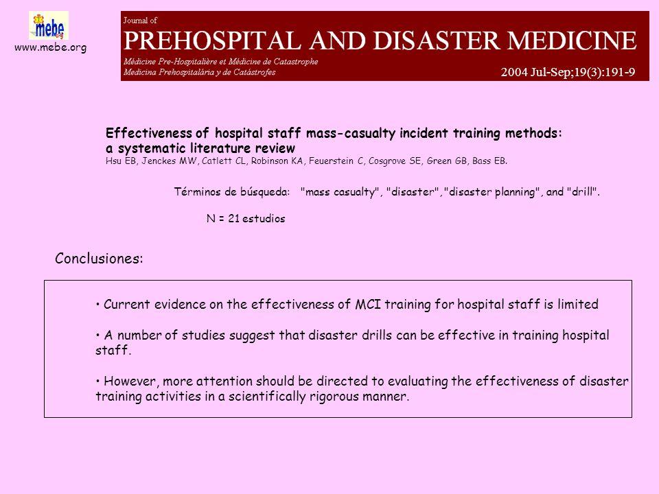 www.mebe.org... Medicina de emergencia basada en la evidencia mebe de emergencia basada en la evidencia mebe catástrofes catástrofes meCAbe www.mebe.o
