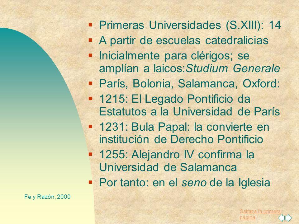 Saltar a la primera página Fe y Razón, 2000 S. Isidoro de Sevilla (+636): Transmisor del saber clásico Gran Enciclopedia, llamada Etimologías (XX Libr