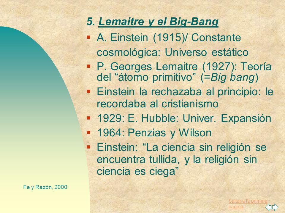 Saltar a la primera página Fe y Razón, 2000 F. Ayala (neodarwinista, 1994): - Nociones fuera del ámbito de la ciencia: Dios, creación, alma - la exist