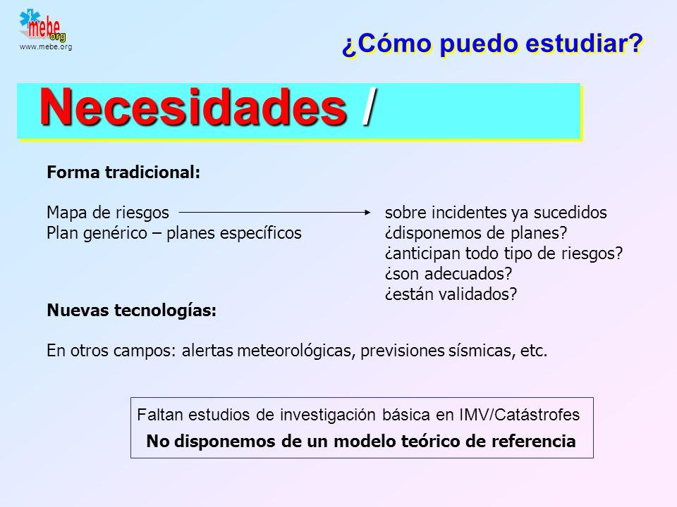 www.mebe.org Incidentes no convencionales Explosivos de gran potencia Lo más probable Toxinas biológicas Riesgo químico industrial Microorganismos pat