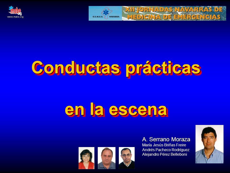 SM Conductas prácticas en la escena A. Serrano Moraza A. Serrano Moraza María Jesús Briñas Freire Andrés Pacheco Rodríguez Alejandro Pérez Belleboni