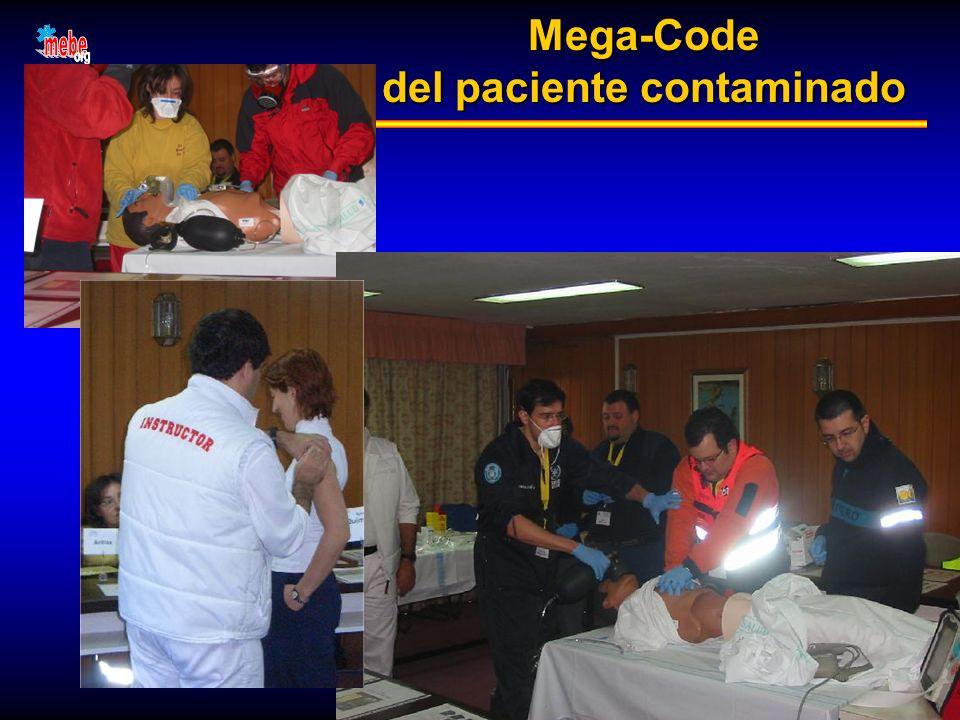 Mega-Code del paciente contaminado