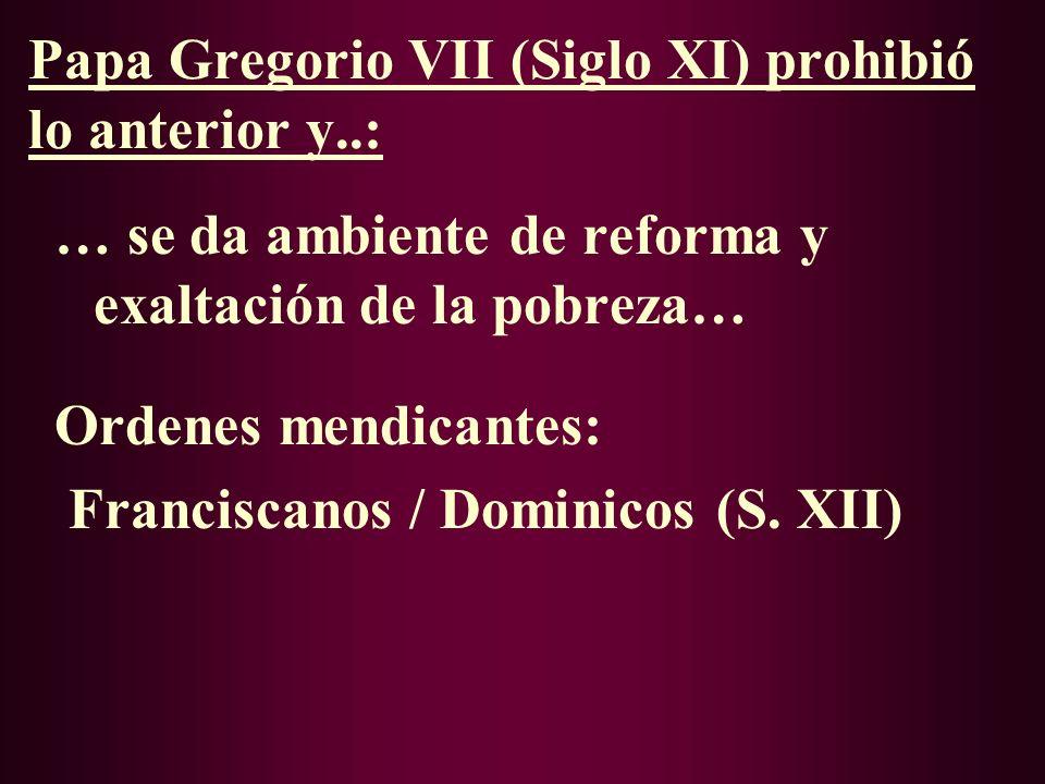 III. ALBIGENSES (CÁTAROS) S. XI: Crisis en la Iglesia -Simonía -Concubinato -Investidura laica: Señor feudal que nombraba Obispos (lo ordenaba otro) /