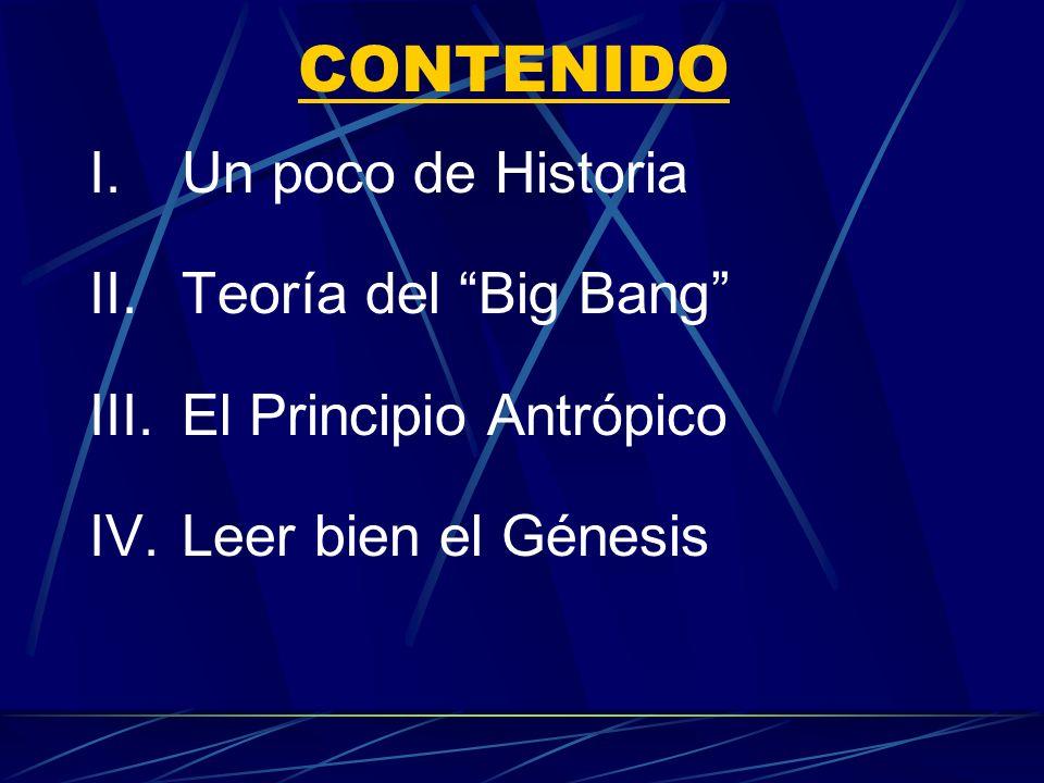 EL ORIGEN DEL UNIVERSO Dios y el Big Bang