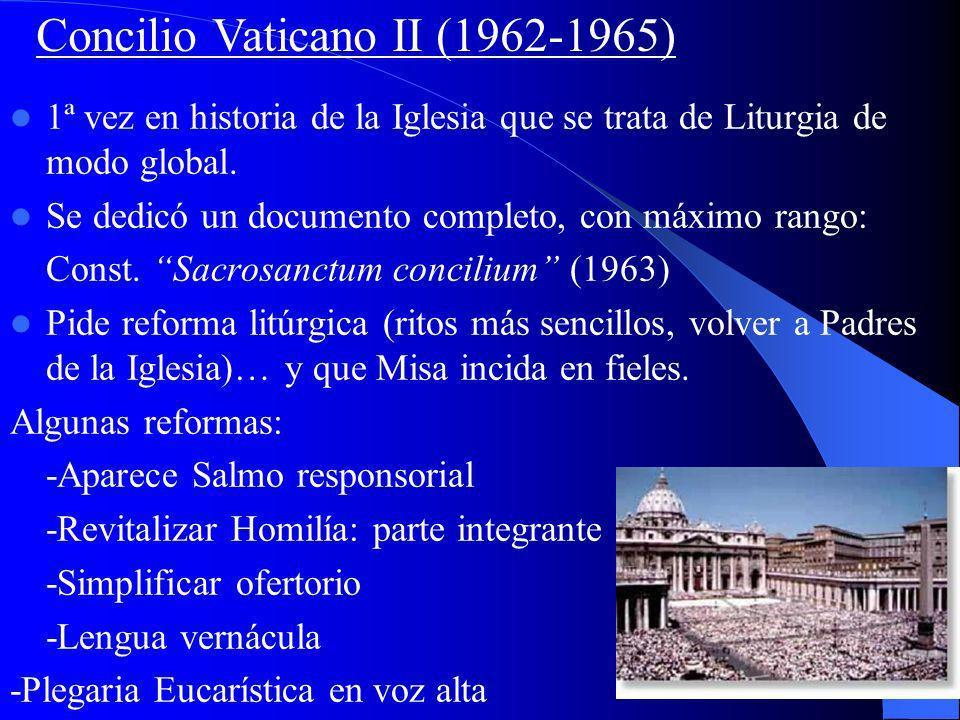 El Concilio de Trento en el siglo XVI preparó una liturgia unificadora, el Missale Romanum (Misal Romano, publicado hasta 1570), y ordenó su empleo a