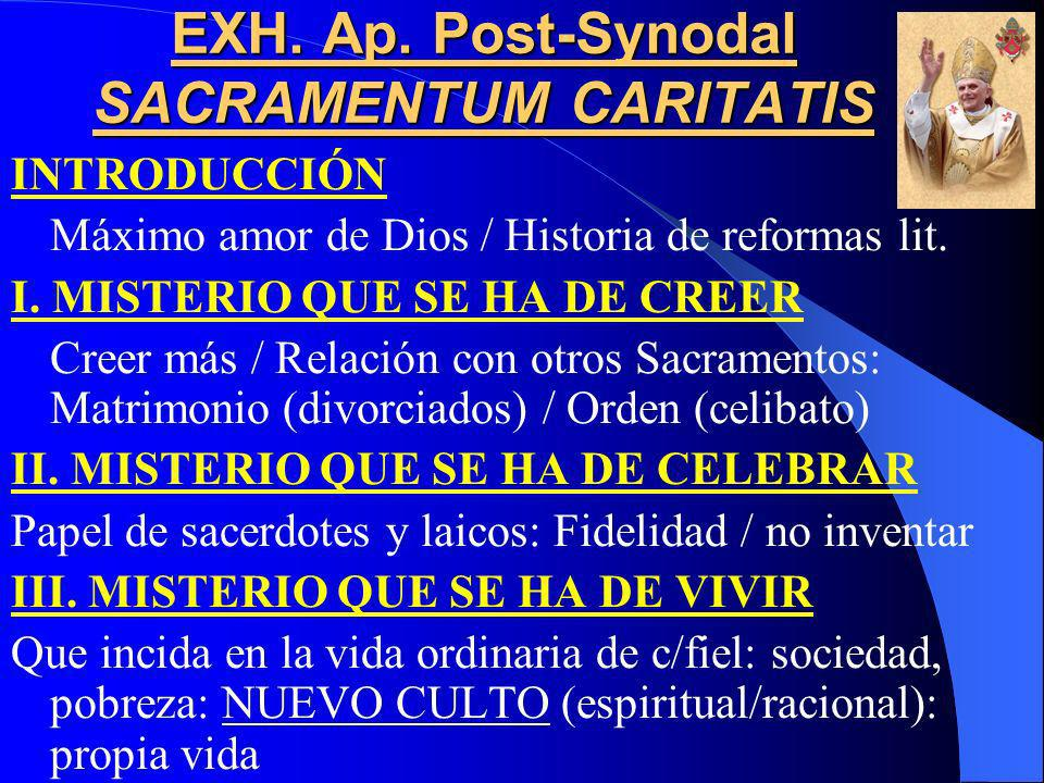 Pablo VI Siguiendo las indicaciones del Vaticano II, una comisión se encarga de preparar un nuevo Misal Romano, con nuevas plegarias eucarísticas y Le