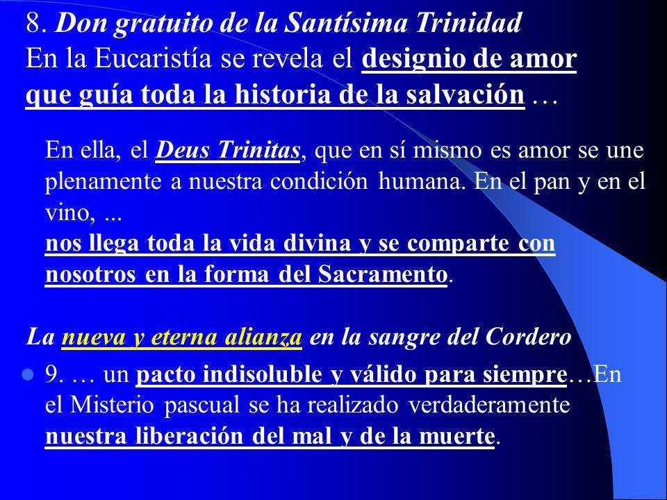 I. MISTERIO QUE SE HA DE CREER 6. el Sacramento del altar está siempre en el centro de la vida eclesial; «gracias a la Eucaristía, la Iglesia renace s