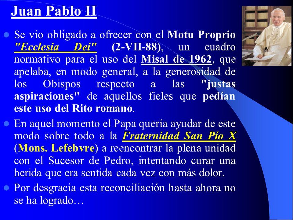 Siguiendo las indicaciones del Vaticano II, una comisión se encarga de preparar un nuevo Misal Romano, con nuevas plegarias eucarísticas y Leccionario