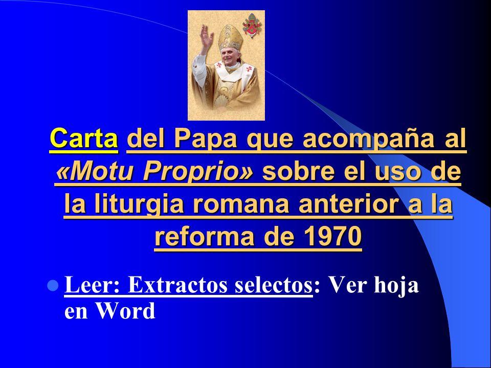 Exh. Ap. Sacramentum caritatis (2007): -Eucaristía: Misterio a Creer, Celebrar y Vivir -Descubrir la belleza de la liturgia; nuevo culto cristiano: no