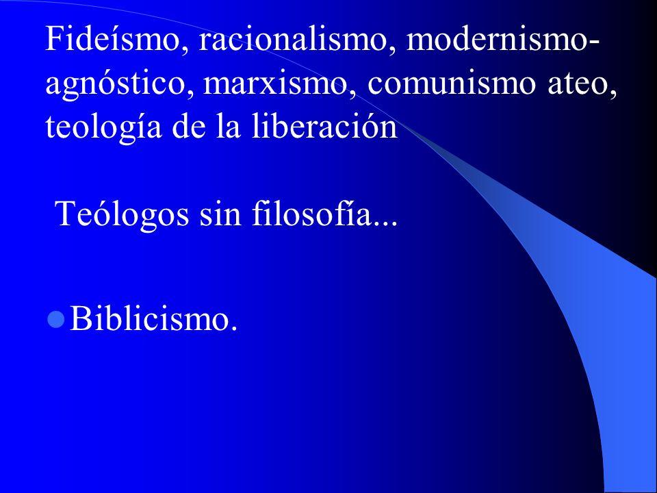 V. Intervenciones del Magisterio en cuestiones filosóficas La Iglesia no propone una filosofía propia. Indica si un sistema es incompatible con Fe La