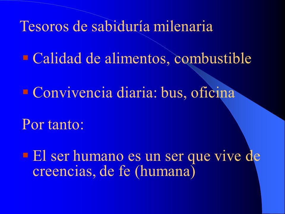 2. ¿Para qué sirve creer? S. Agustín: De utilitate credendi, sin fe no se puede confiar ni vivir. ¿Mayoría de conocimientos?: Fe !!! Lo contenido en e