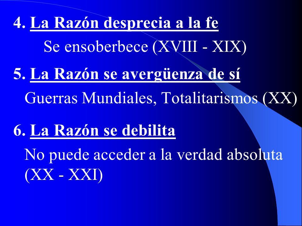 C. ETAPAS HISTÓRICAS DEL ACCESO A LA VERDAD 1. Sólo Razón (Filosofía anterior a Revelación Judeo-Cristiana) 2. Fe y Razón (Siglo I hasta XVI - XVII) 3