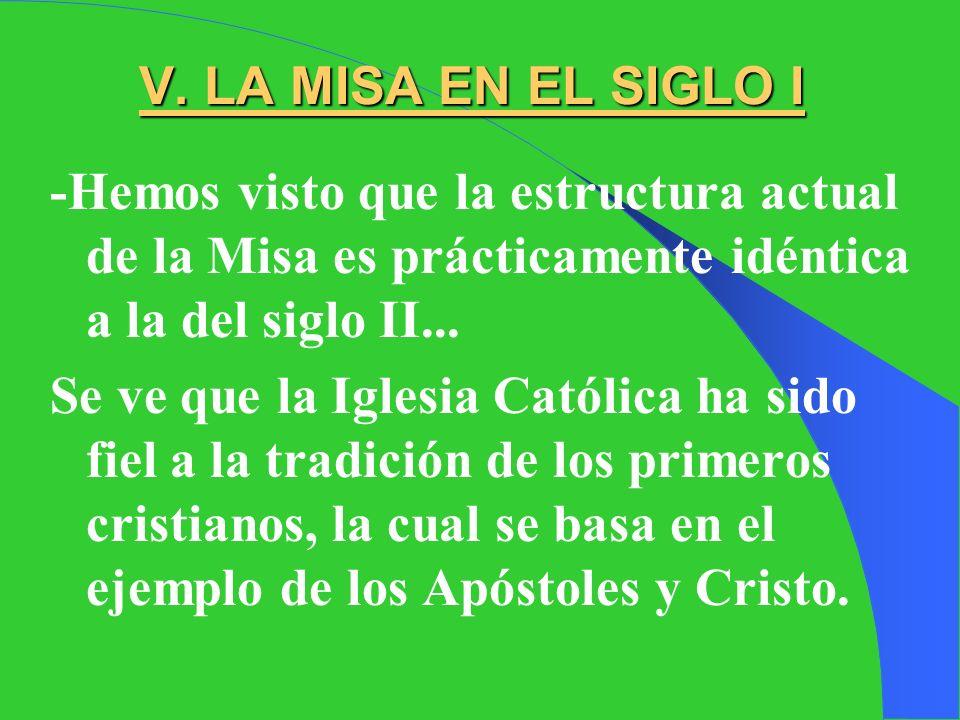IV. LA MISA EN EL SIGLO II -Pero, la estructura actual de la Misa, ¿de dónde viene? ¿cuándo se configuró así? -Leeremos un texto del siglo II, escrito