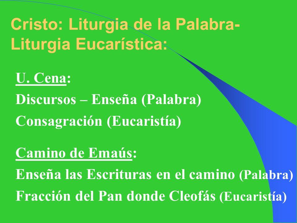 Los Apóstoles también usan el esquema de Liturgia de la Palabra- Liturgia Eucarística: Apóstoles: Hechos 2,42: Acudían todos a: Enseñanzas de Apóstole