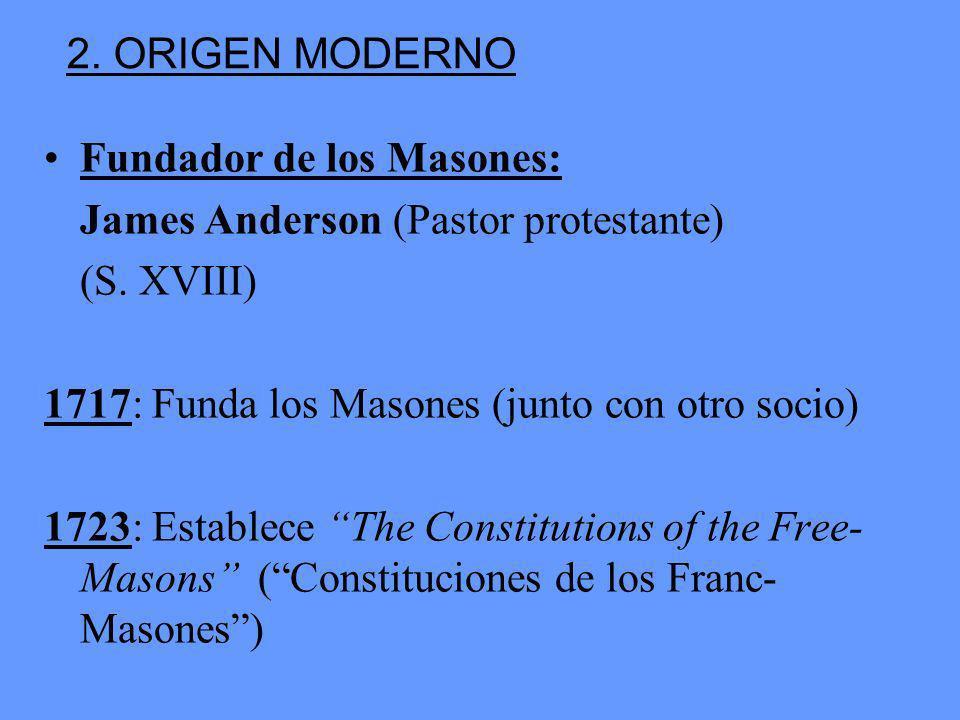 Fundador de los Masones: James Anderson (Pastor protestante) (S.
