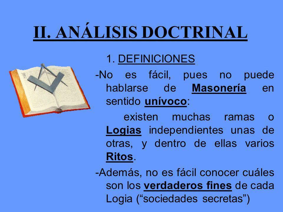 II.ANÁLISIS DOCTRINAL 1.