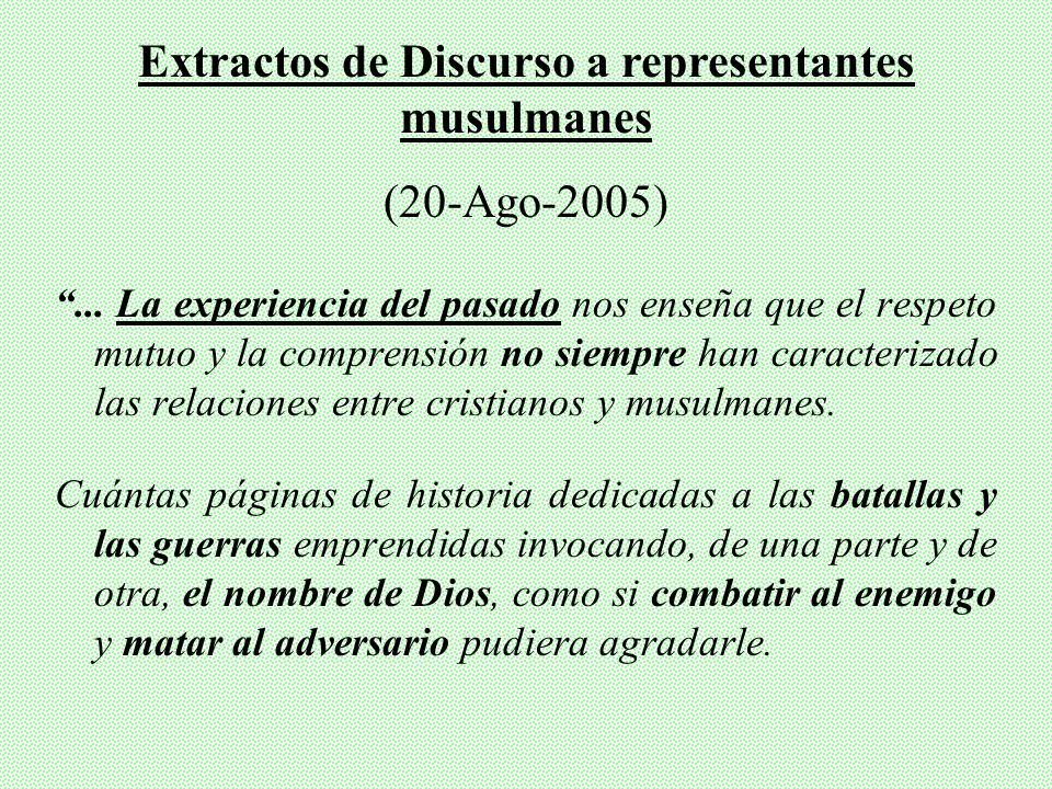 V. BENEDICTO XVI Y LOS MUSULMANES (Colonia-2005)