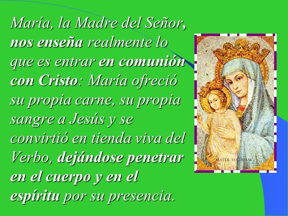 Nuestra procesión acaba ante la Basílica de Santa María la Mayor, en el encuentro con la Virgen, llamada por el querido Papa Juan Pablo II «mujer euca