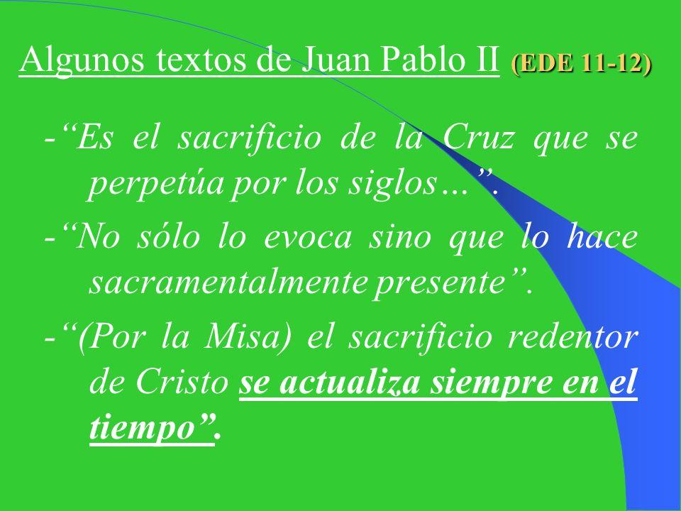 I. BREVE REPASO ¿Qué es la Santa Misa? -Renovación incruenta del sacrificio de la Cruz -Redención Objetiva (Cruz) -R. Subjetiva (Sacram) -U. Cena: Ant