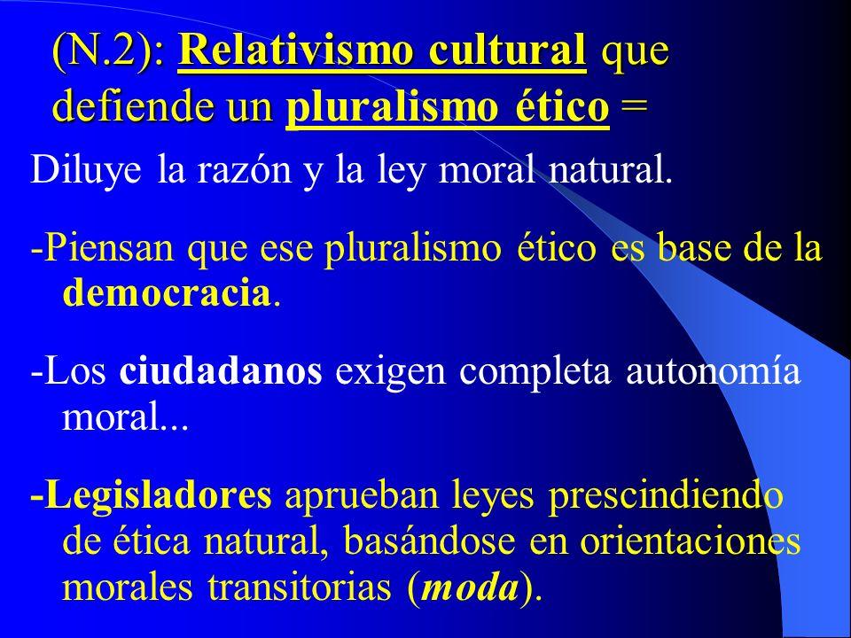 -Solidaridad hacia países menos desarrollados -Graves Peligros: Tendencias culturales que tratan de – Orientar legislaciones – Comportamientos de futu