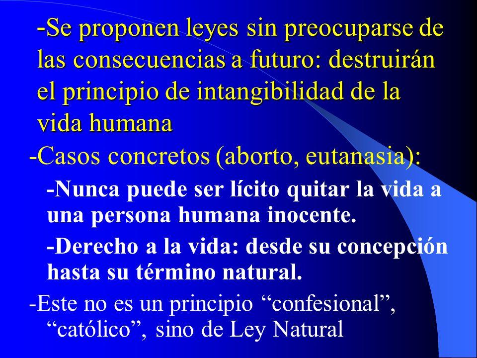 N.4 Compleja red de problemáticas actuales: – Incomparable con siglos pasados – La ciencia ha alcanzado objetivos que sacuden la conciencia… pero se d