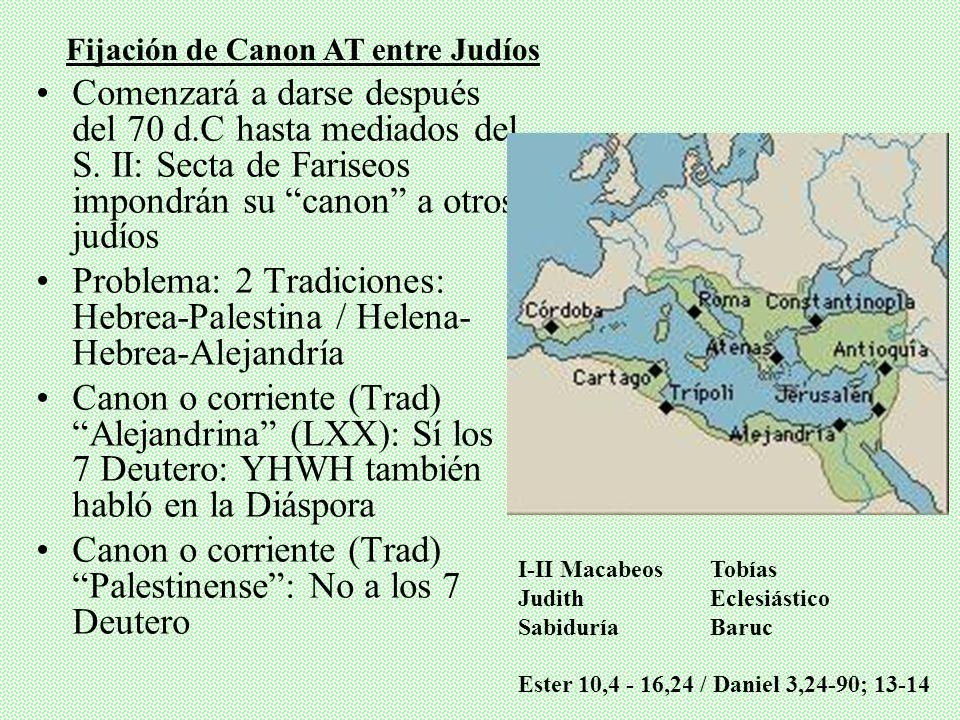 Nebiim: Anteriores (Josué, Jueces, Reyes, etc.) y Posteriores (Mayores, Menores) Parece que ya formado a mediados de s.II A.C. Sirácide No tanta autor